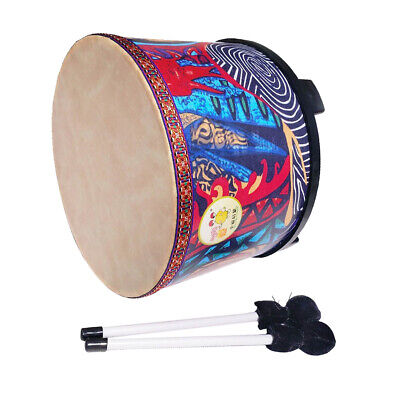 Novelty 10inch Hand Drum+Beaters Set for Kids Baby Toddler Percussion Toy