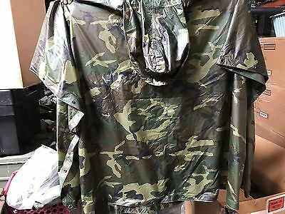 Genuine Issue US Military Poncho, Woodland Camo, NSN: 8405-01-100-0976
