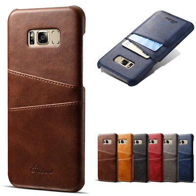 Dooqi Leather Wallet Card Slot Back Cover Case For Samsung Galaxy S8 / S8 Plus