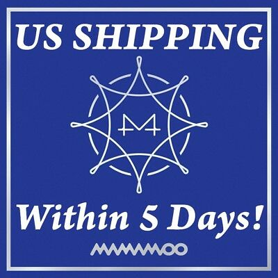 US SHIPPING Mamamoo-[Blue;s]8th Mini Album CD+Poster+Booklet+Card+Gift K-POP