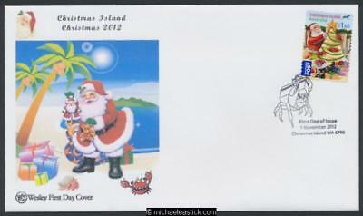 01-Nov-2012 Christmas Island Christmas Peel and Stick First Day Cover