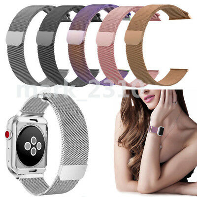 For Apple Watch Series 3 2 1 38/42mm Milanese Loop Strap Magnetic Stainless Band