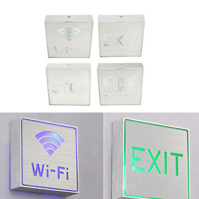 Wall Hanging LED Aluminum IP65 1W Indicator Lamp Edge-lit Exit Sign Light