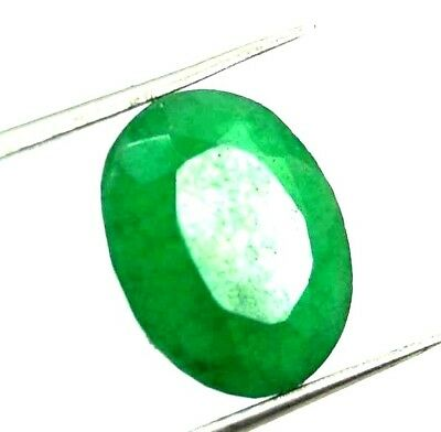 GGL Certified 4.25  Ct Natural Oval Cut Green Emerald Gemstone Hurry Now