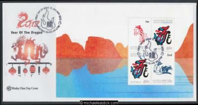 10-Jan-2012 Christmas Island Year Of The Dragon Prestige Booklet First Day Cover