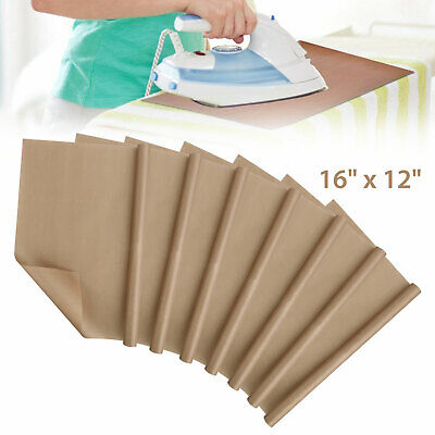 """7-Pack 16""""x12"""" Teflon Sheet for Heat Press Resistant Non Stick Oil-proof Craft"""