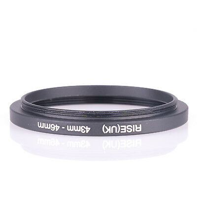 RISE(UK) 43-46 43mm-46mm 43 to 46 Matel Step-up Filter Ring Camera Lens Adapter