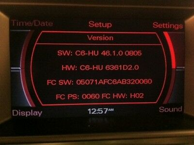 Audi MMI 2g HIGH Software Update 4610 A6/A8/Q7 for USA cars