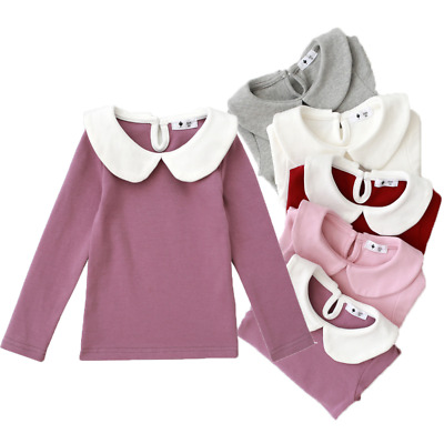 5 Colors Toddler Kids Baby Girls Long Sleeve Winter Tops T-Shirt Blouse Pullover