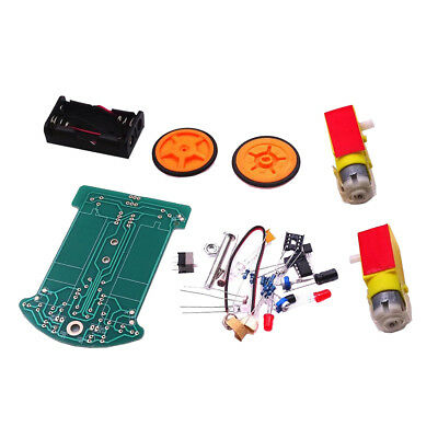 Smart Tracking Robot Car Electronic DIY Kit With Reduction Motor Battery Box