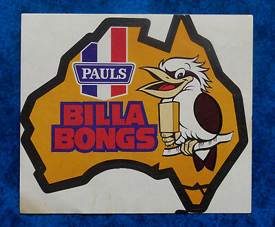 BILLA BONGS -  Vintage 1980,s PAULS Ice-cream advertising sticker