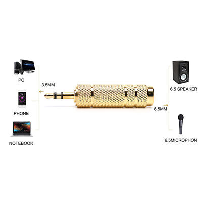 3.5Mm Male To 6.35Mm Female Stereo Audio Plug Headphone Jack Adapter Converte LM