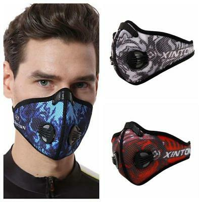 Men/Women Activated Carbon Dust-proof Cycling Face Mask Anti-Pollution
