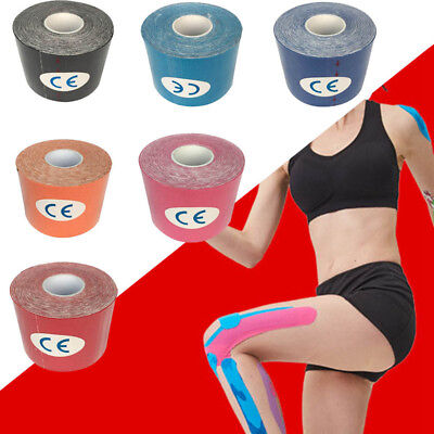 5M Waterproof Elastic Kinesiology Sports Tape Muscle Pain Care Therapeutic New