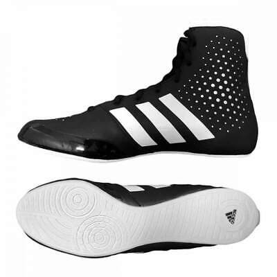 Adidas KO Legend Boxing Shoes Boots Black & White Lace Up