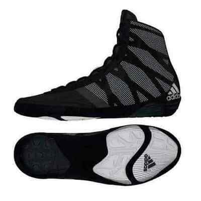 Adidas Pretereo 3 III Wrestling Sport Shoes Boots Black & Silver Lace Up