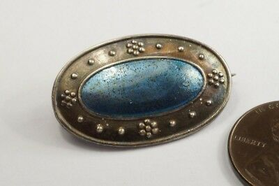 ANTIQUE ENGLISH SILVER & ENAMEL ARTS & CRAFTS BROOCH by CHARLES HORNER ?