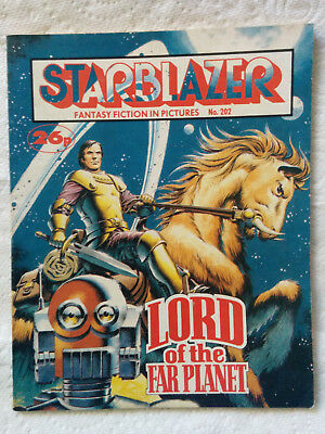 """Starblazer #202 """"LORD OF THE FAR PLANET"""" published by DC Thomson"""