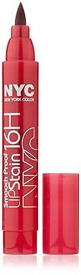 Nyc Smooch Proof 16H Lip Stain 497 Rock On Ruby Matte Finish New Sealed
