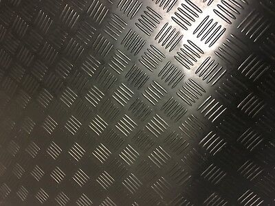 Special Offer Offcuts Checker Plate Studded Rubber Matting 1m wide x 3mm