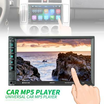 Bluetooth 2DIN 7Inch Touch LCD Car Video Stereo Player FM Radio Aux USB SD Input