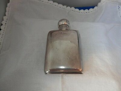 Antique SILVER hip whiskey flask, WILLIAM NEALE, XMAS GIFT!!