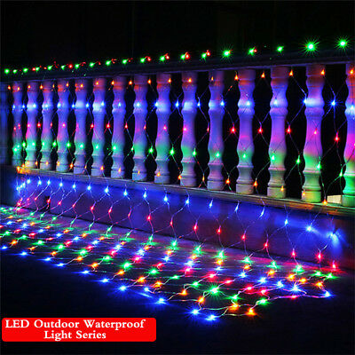 200 LED String Fairy Lights Net Mesh Curtain Xmas Wedding Party Outdoor Indoor