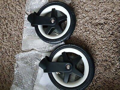 Bugaboo Donkey/ buffalo Pair of Front Wheels with Fork Air Filled  NEW