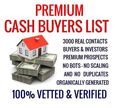 Exclusive Cash Buyers Real Estate Investors Business List For Sale We Buy Houses