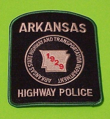 Arkansas  Highway  ( Green Border )  Police Dept. Patch  Free Shipping!!!