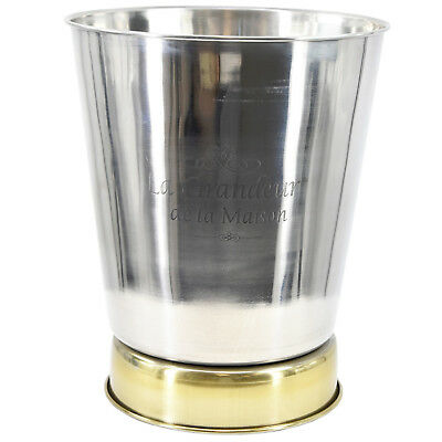 Large Stainless Steel French Silver Champagne Wine Ice Cooler Bucket