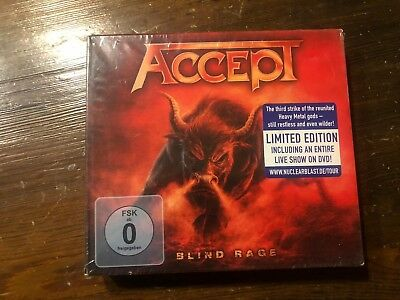 Accept-Blind Rage-Limited Deluxe Edition CD + DVD Set 2014 NB Digipak NEW SEALED