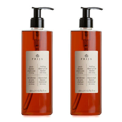 Prija Haarshampoo & Duschgel mit Ginseng Hair & Body Wellness 2x 380 ml Flakon
