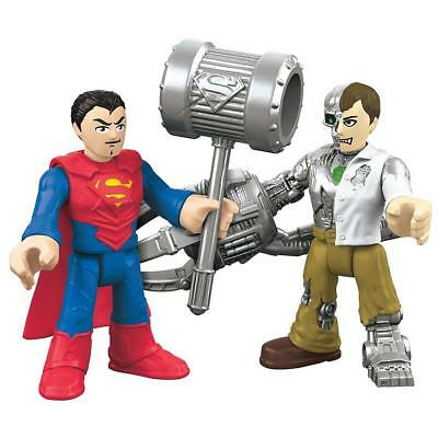 NEW Fisher-Price Imaginext Superman & Metallo DC Super Friends Figures Set Toy