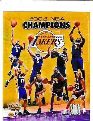 Los Angeles Lakers Collage 8X10 Licensed Team Color Nba Photo File  2002 Champs