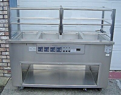 ColorPoint 4-Well Electric Food Warmer Stainless Steel Steam Table Deli Buffet