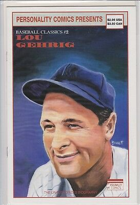1992 Lou Gehrig Personality #2,comic Book