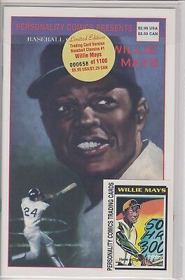 Willie Mays Personality Comic Book (1992) Rare With Trading Cards Limited #1100