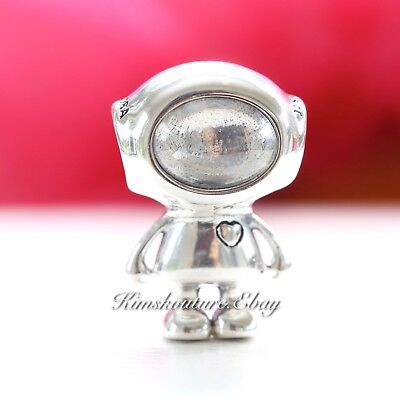 Authentic Pandora Sterling Silver Charm  Cosmo Tommy Clear CZ Bead 797561CZ