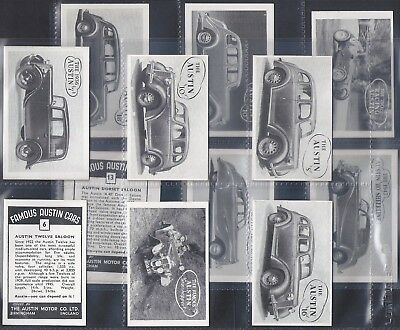 Austin Motor Co.-Full Set- Famous Austin Cars (L13 Cards) - Exc