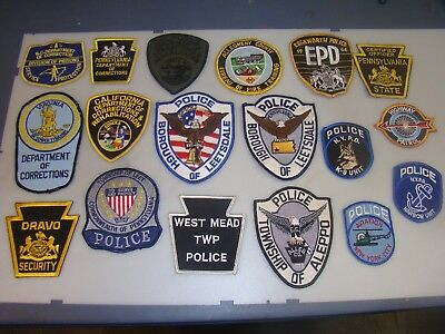 Lot Of 18 Police, Law Enforcment Cloth Patches