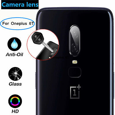Black Rear Lens Protector Ultra Thin Transparent Clear Camera lot For OnePlus 6T