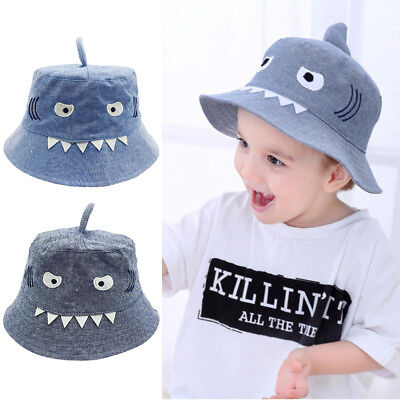 Toddler Baby Kids Boys And Girls Hat Children Cartoon Shark Print Autumn Cap