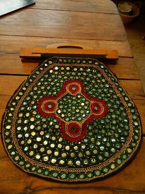 Indian Ethnic Vintage Clutch Embroidery Mirror Beaded Hippie Boho Gypsy Bag