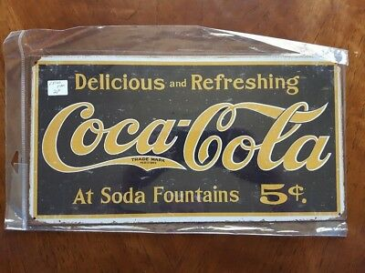 Coca-Cola Metal Advertising Signs: Lot Of 5 Different New Signs