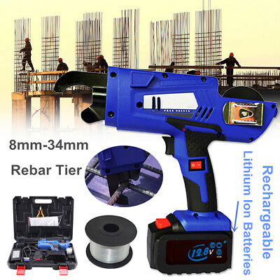 Automatique Handheld Rebar Tying Machine Reinforcing Strapping Tier 8mm-34mm