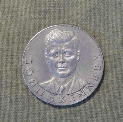 1963 JFK Welcome In Germany Silver Medallion, 46.85 Grams Pure Silver
