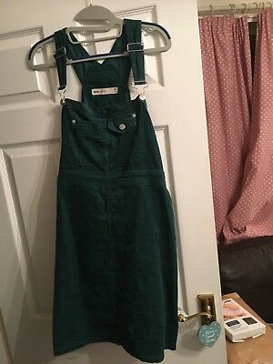 ASOS Cord Dungaree Green Dress Maternity Size 14