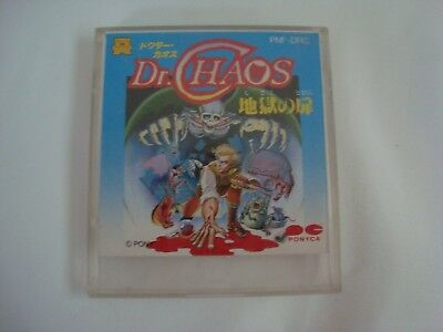 Nintendo Famicom Disk System Dr. Chaos Sleeve & Case Only FDS Japan