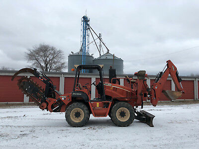 2008 Ditch Witch RT95 Rubber Tired Ride On Trencher Backhoe Digger John Deere
